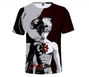 Animado 3d de impresión hombres de la camiseta de las mujeres Homme Top camisas de la manera camiseta Negro trébol niños Harajuku primer golpe divertidos Homme T-shirt