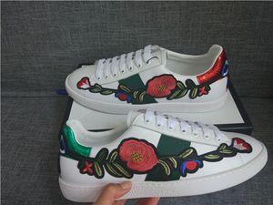 Модный Дизайнер женской обувь кроссовок привлекательный дизайн ACE вышивка Bee Tiger Head Snake Fruit Dog Повседневный Flat Унисекс Тренеры c29