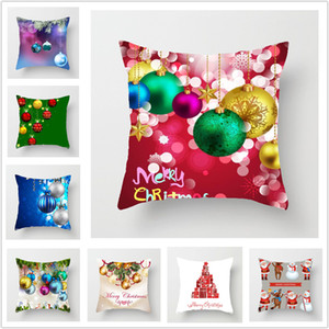 NUEVA caja de Navidad arpillera Almohada hogar de la Navidad cubierta decoración almohada de lino Shams Plaza banda fundas de almohada fundas de cojines para el banco de Sofá