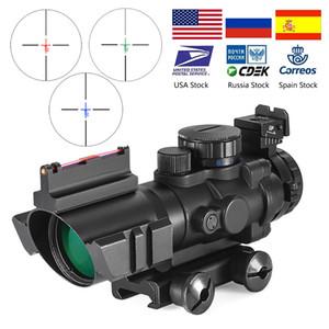 4X32 ACOG Riflescope의 20mm 더브 테일 반사 광학 범위 전술 시력 사냥 총 소총 서바이벌 스나이퍼 돋보기