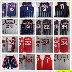 Retro Vintage Basketball James 13 Harden Jerseys Stitched Hakeem 34 Olajuwon Tracy Steve McGrady Francis Yao Clyde Ming Drexler Best Quality