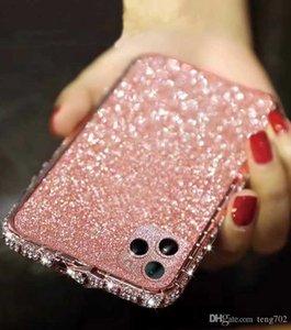 아이폰 6 커버를위한 코브라 빛나는 여성 금속 다이아몬드 여성 디자이너 7 8 플러스 X XS XR (11) 프로 맥스 전화 케이스 보호 국경을 6S