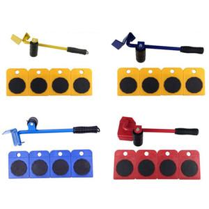 5pcs Sliders Móveis 100 kg / 220lbs Lifter Kit Profissão Pesado Móveis rolo Mover Tool Set Roda Bar Mover Dispositivo Max Up for