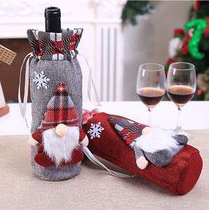 Noël rouge bouteille de vin couverture sac-cadeau rouge Nouvel An Décoration pour le Nouvel An Accueil Fête de Noël Fournisseur XD22531