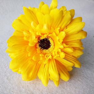 Nuevo diseño 10 PC flores artificiales de seda Gerbera Daisy bouquet flor decorativa para la sala de decoración de la fiesta de bodas en casa