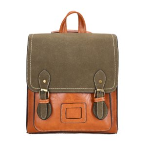 2020 mochila feminina anti theft school bags waterproof travel vintage laptop brown leather big backpack women korean designer