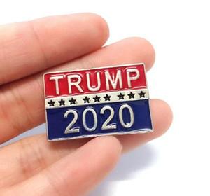 Promocional Trump 2020 broches de diseño para los regalos del favor de la Elección Presidencial metal pernos de las broches de la joyería de lujo de las mujeres del partido broches Hombres
