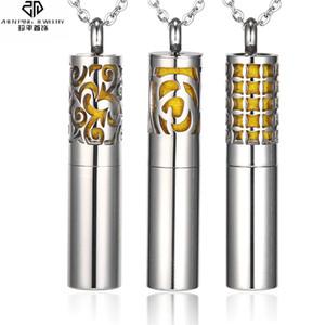 Colgante, collar de aceites esenciales de contenedores de acero inoxidable silbato collar difusor Locket Hombres Mujeres