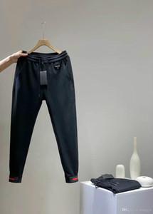 Американский случайные мужские брюки Классический Вышитые алфавит металлический логотип Толстая ткань Полный моды черные брюки для мужчины