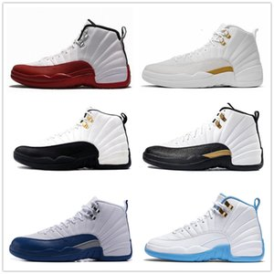 12 cherry ovo 12s taxi university french blue wool nylon black dynamic pink for women mens basketball shoes sneakers