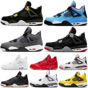 ولدت JUMPMAN 2019 بارد رمادي 4S جديد 4 أحذية الرجال لكرة السلة FIBA ترافيس سكوتس النقي الملوك المال بالي الكباد المدربين إمرأة حذاء رياضة 5-13