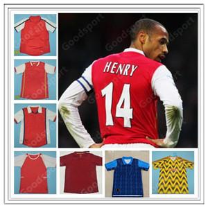 Retro Gunners Futebol camisas PIRES HENRY V. Persie Fabregas Rosicky REYES VIEIRA Bergkamp futebol 05 06 94 91 93 98 02 04 07 97 94