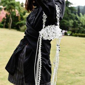 Transparente Shell Bolsa Independent Design Saco Batom Tamanho Beads Handmade Mini Bead (Shoulder três tiras + Uma Alça de Mão)