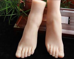 Fashion 41 Real-life simulazione femminile piede mannequin body calzature tiro display puntelli pedicure pittura insegnamento calze 1 pz c652