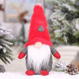 60pcs Swedish Gnome Plush Toy Gnomo escandinavo Nordic Tomte enfeite Dwarf Toy Faceless Boneca Decorações de Natal CCA11915