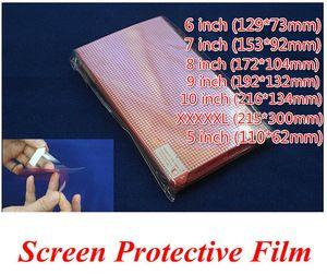 Navire Libre 100pcs TRANSPARENT Universel XXXXL 5 6 7 8 9 10 pouce Grille Protecteur D'écran Film Composite pour Téléphone Mobile GPS MP4 PDA