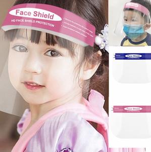 Bambini Full Face Shield Anti-Splash Anti-Fog Negozio scuola studio ragazze bambine di protezione maschere per il viso LJJK2362