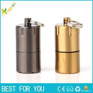 Mini Compact cherosene Capsule accenditore della benzina catena chiave gonfiato Accendino a benzina Strumenti mola Accendini all'aperto