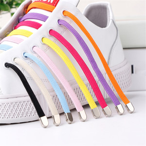 1 Pair Tie-free Shoelace Stretch Elastic Lazy Shoelaces Flat Shoe Laces Rubber Candy Color High Quality 100cm Shoelaces Red Pink