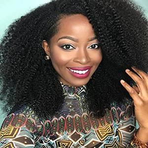 Shiny Virgin brasiliano dei capelli umani parrucche 4B 4C Afro crespo parrucche ricce per le donne di Glueless nero merletto della parte anteriore parrucche 130% Densità (12 ''