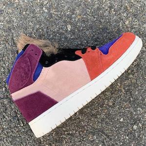 Aleali May x 1 Viotech Kürk Basketbol Ayakkabıları Top Kalite Bordo Sunset Tint-Rush Kırmızı-Işık Armory Mavi 36-46 Kutusu Ile