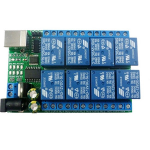 2 en 1 DC 5V 12V 24V de 8 canales USB puerto serie RS232 Módulo de relé UART TTL conmutador Junta CH340