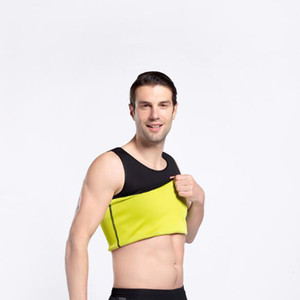 Men Neoprene Slimming Vest Stomach Belly Tummy Control Shapewear Workout Sauna Suit For Running Sport Black