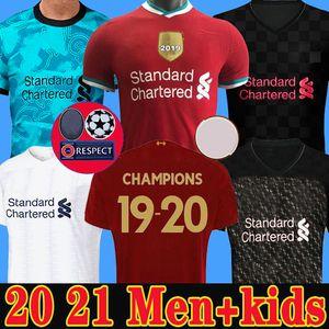 Camiseta de fútbol del Liverpool 20 21 chandal 2020 2021 M. SALAH VIRGIL MANE FIRMINO KEITA MILNER SHAQIRI campeones porteros hombres + kit para niños de la soccer jersey
