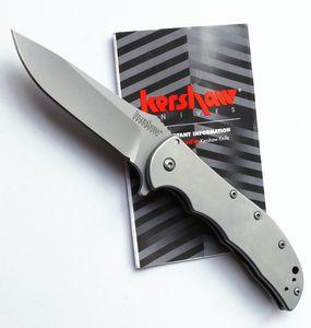 Atacado Kershaw 3655 Cryo Cinza titanium Facas Dobráveis Táticas 8Cr13Mov lâmina 58HRC Camping Hunting Survival Pocket Knives Utilitário ferramentas