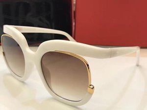 863 S Sunglasses Luxury Women Brand Designer Fashion Oval Big Summer Style Mixed Color Frame Top Quality UV Protection Lens Come With Case