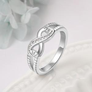 # RI101804 Anneaux de bijoux pour femmes Certificat Gouvernement, Argent 925 Endless Love Lady Infinity S925 Entiers Anneau
