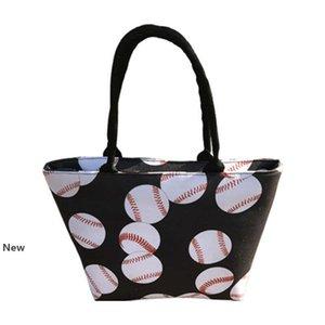 5styles Baseball Tote Handbag Canvas Sports Bags Softball Bag Football Soccer Basketball Cotton Canvas Large Shoulder Bag new GGA3499