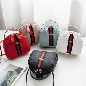 2019 más caliente del bolso femenino diseñador del modelo lichi mini bolso mensajero bolso casual bolsos del teléfono móvil