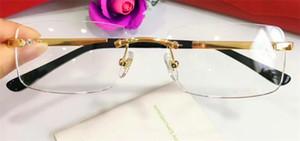 Популярная очки кадров 18k кадров позолоченных сверхлегкие оптические очки ноги для мужчин деловой стиль очки высшего качества с коробкой 820097