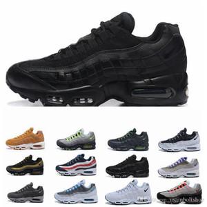 Nike Air Max 95 Flyknit Utility  de las zapatillas de deporte zapatos de mujer botas auténtica prima de neón fresco del gris que recorre los zapatos al aire libre Deportes 36-45