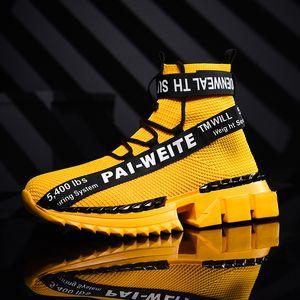 2020 Qualitäts-Ultralight Outdoor-Men Walking Sneakers Mode für Männer Freizeitschuhe High Top Sneakers Schuhe Hombre Sapatos