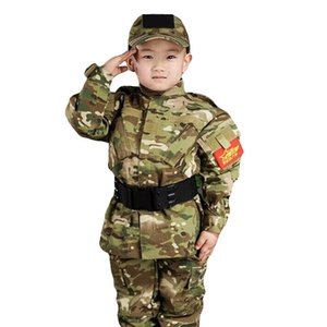 Children Outdoor Military Training Camping Camouflage Tops + Pants Suits Spring Kids CS Airsoft Gear Uniform Shirt Trousers Sets