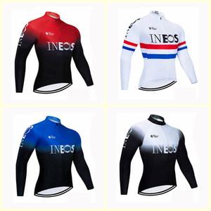 squadra INEOS Ciclismo manicotti lunghi Jersey Jerseys Autunno Mtb uomini maniche Long Bike Wear Primavera Vestiti di riciclaggio B615-58