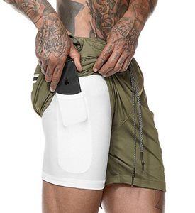 MS 2019 schnelltrocknend Shorts Bluse Sport kurze Hose der Männer zweilagige schnelltrockn Shorts fünf Hosen Fitness-Hosen-freies Verschiffen DF-DK03 Netz