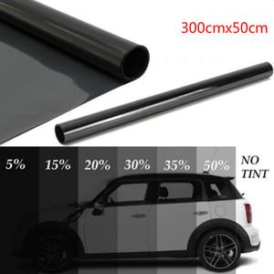300cmx50cm Car Black stagnole della finestra Tint colorazione Film Roll Auto Car casa Glass Window Estate solari UV Protector Sticker Cinema