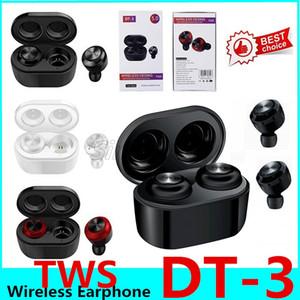 DT-3 TWS بلوتوث 5.0 لاسلكية سماعات الأذن للماء سماعة الرياضة الألعاب سماعات مع شحن صندوق لالهاتف الذكي