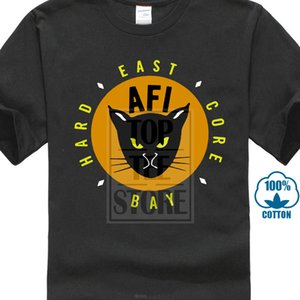 T-shirt nera da uomo manica corta Afi East Bay Kitty Rock Band taglia S da 5xl