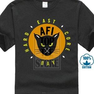 Nova Afi East Bay Kitty Rock Band manga curta dos homens camiseta preta tamanho S para 5xl