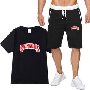 Yaz erkekler Backwoods Tişörtlü Kısa kollu Diz Boyu Erkek Şort camiseta Moda eşofman erkek t shirt Ve Şort erkekler ayarlar