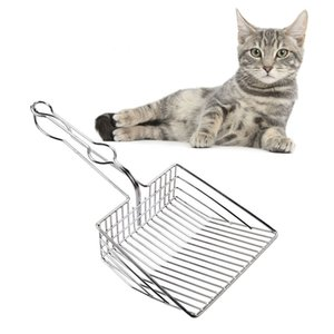 Pet Litter Box Cleaning Cat litter Spoon Stainless Steel Shovel for Home Garden Waste Scooper Pet Cat Litter Box Accessories