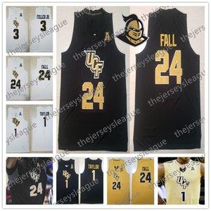 UCF Knights 2019 Custom Cualquier nombre Número Cosido Oro Blanco Negro # 1 BJ Taylor 15 Aubrey Dawkins 24 Tacko Fall NCAA Jersey de baloncesto