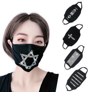 Bling bling Designer masque facial Bar Tendance Mode Nightclub Strass Masques Lavable Réutilisable Pêche Masque Livraison gratuite