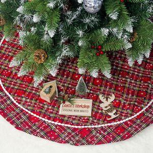 Önlük Keçe Noel ağacı Ekose Etek Alt Kapak Kat Mat Noel Dekorasyon 2019 Yeni Gelen Standları