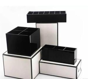 2019 새로운 고전적인 고급 화장 용 부속품 저장 상자 절묘한 화장 용 거울 화장 용 립 립 광택 저장 상자 VIP 선물