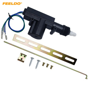 FEELDO 2-Wire Car Central Lock System Single Gun Actuator Motor With Mounting Metal Kits #4662